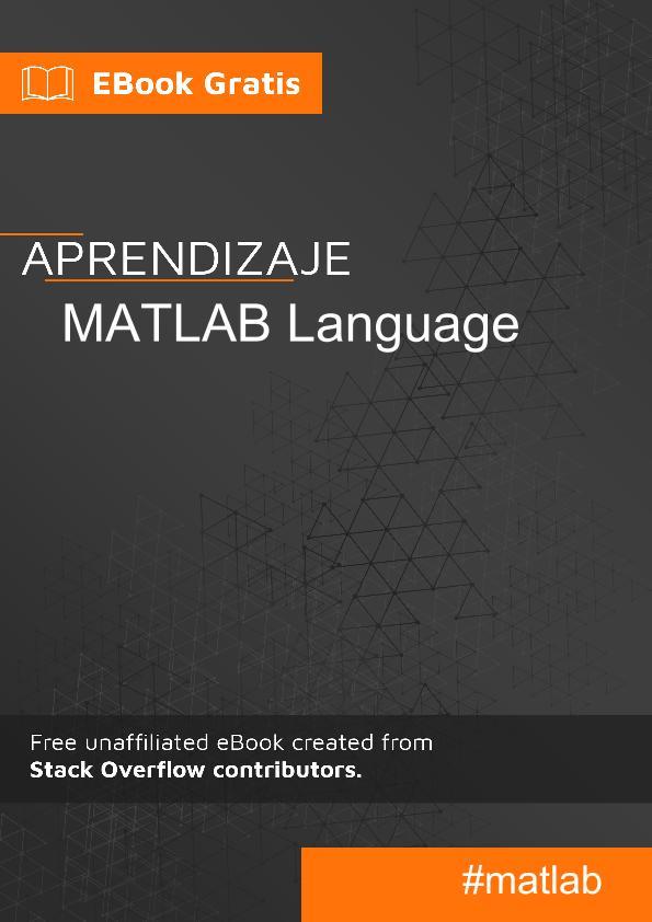 Empezando con lenguaje MATLAB
