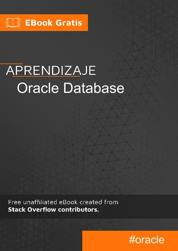 Comenzando con la base de datos Oracle