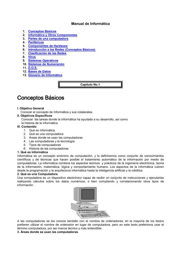 Manual de Informática conceptos Básicos