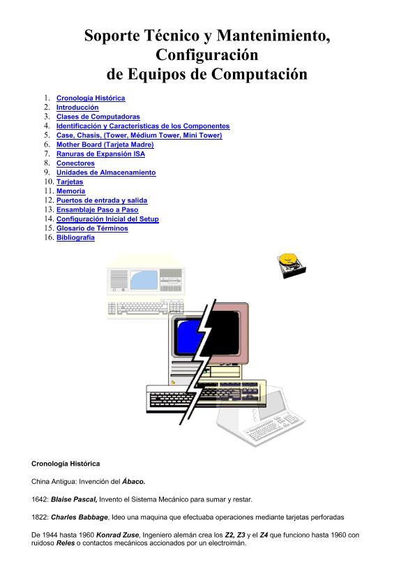 Soporte Técnico y Mantenimiento, Configuración de Equipos de Computación